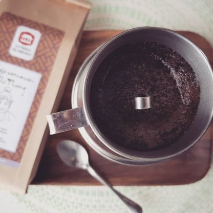 Filtre à café vietnamien avec le café vietnamien Chi Phuong
