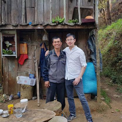Avec le producteur du Café vietnamien Printemps de Đà Lạt