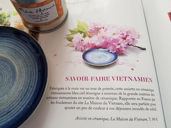 Assiette Ceramique La Maison du Vietnam Koi magazine n5