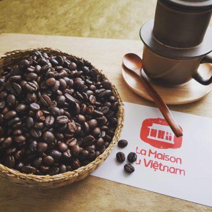 Set Filtre à café réutilisable en céramique du Vietnam Cà Phê en grains